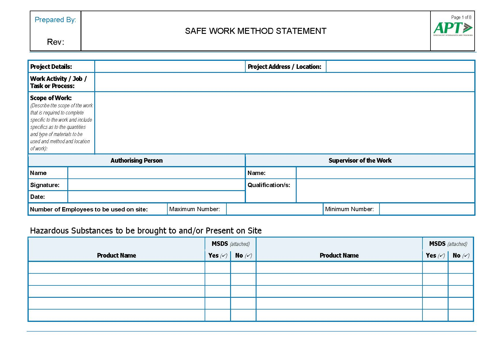 Perfect Swms Template On Method Of Procedure Template